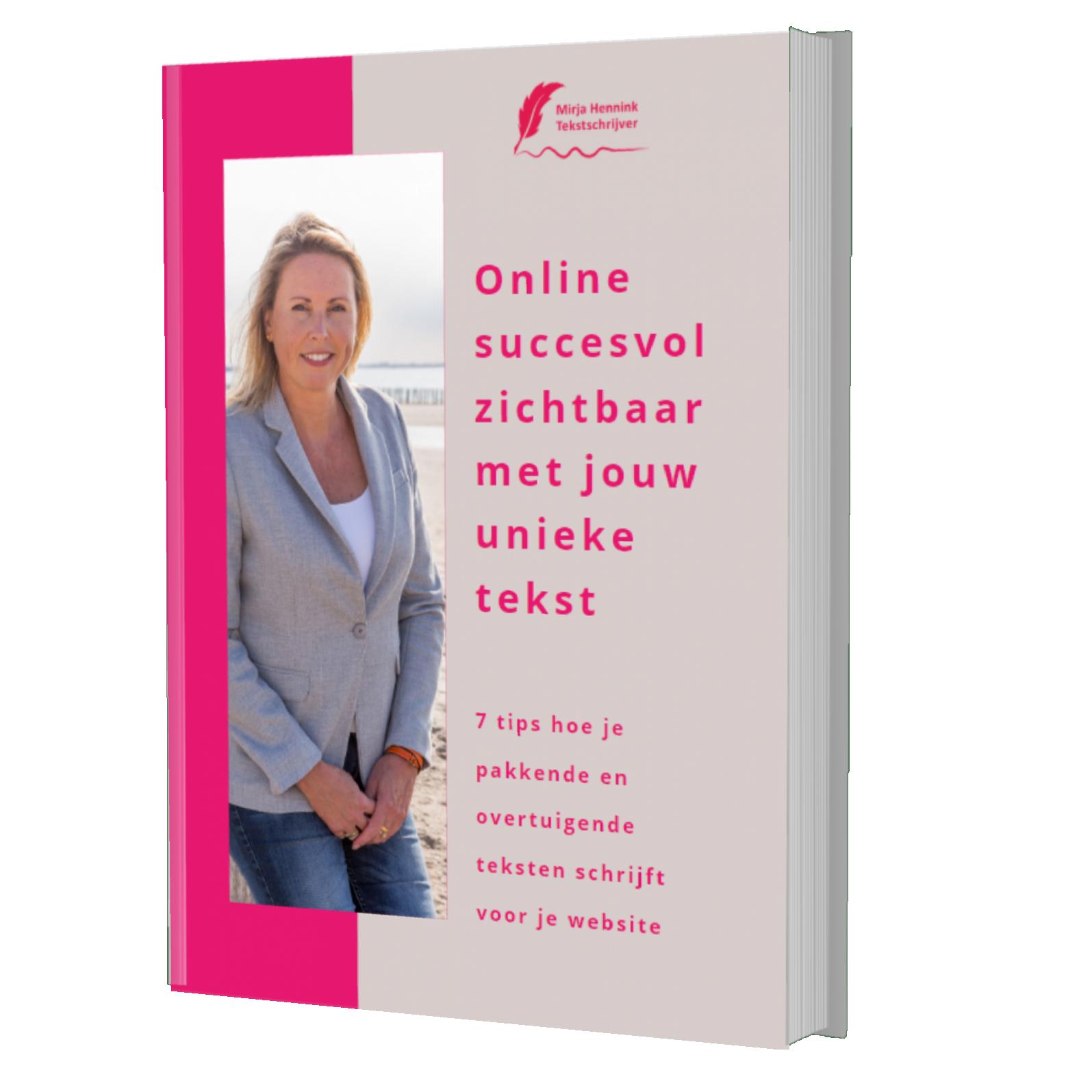E-boek Online zichtbaar met jouw unieke tekst